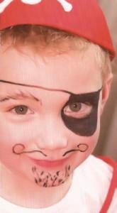 Piraat op kinderfeestje