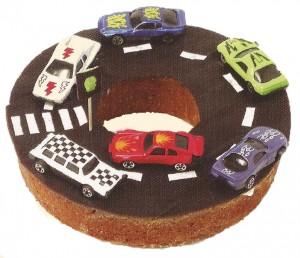 Tulband rotonde taart voor uw cars feestje