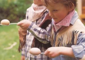 loopwedstrijdjes met ei op lepel